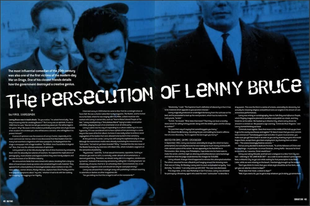 High Times Greats: The Persecution Of Lenny Bruce
