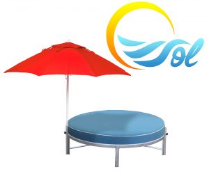 DB-RCU - Sol Daybed Round with Cushion-0